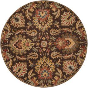 Surya Caesar Ivory Floral Rug - 4' Round