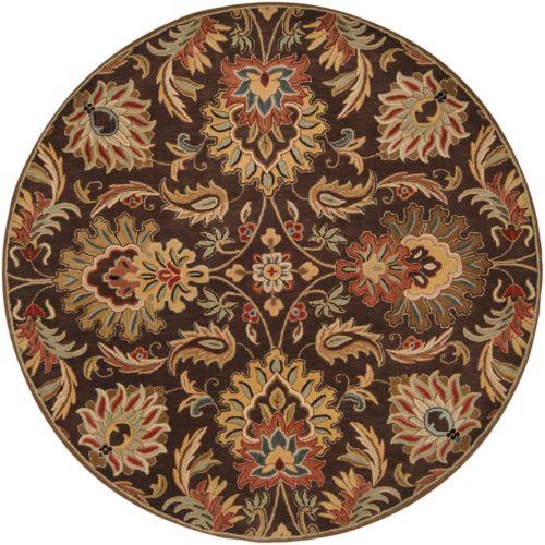 Surya Caesar Ivory Floral Rug – 4′ Round