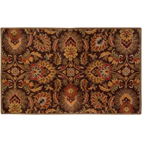 Surya Caesar Ivory Floral Rug – 6′ x 9′
