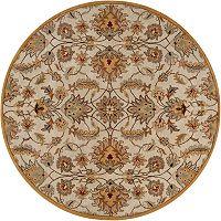 Surya Caesar Gold Floral Rug - 4' Round