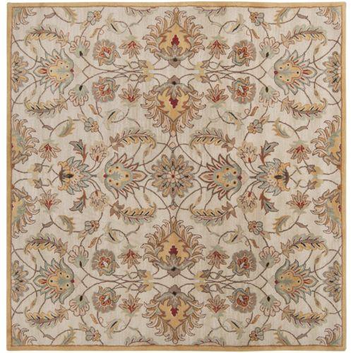 Surya Caesar Floral Gold Rug – 4′ Square