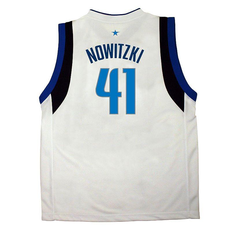 adidas Dallas Mavericks Dirk Nowitzki White NBA Jersey - Boys 8-20