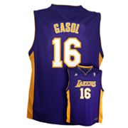 adidas Los Angeles Lakers Pau Gasol NBA Jersey - Boys 8-20