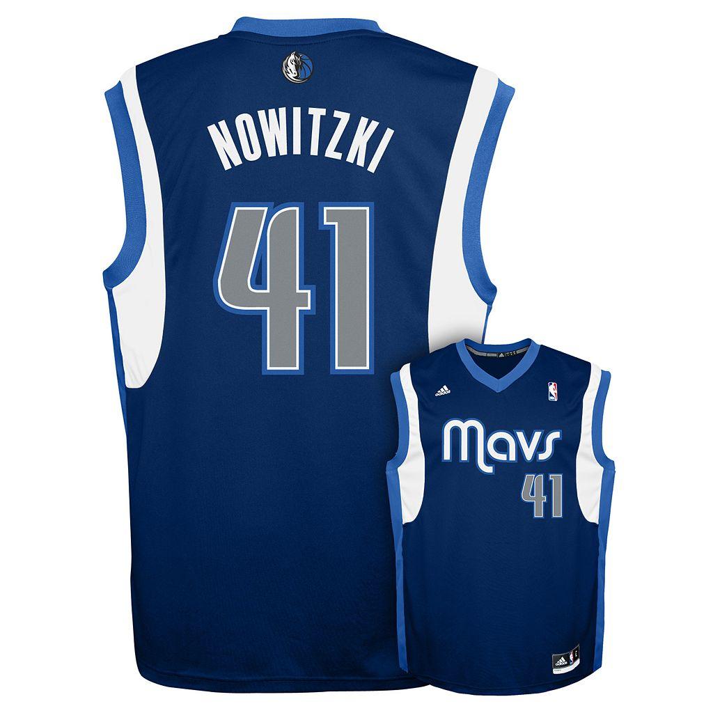 Men's adidas Dallas Mavericks Dirk Nowitzki Revolution NBA Jersey