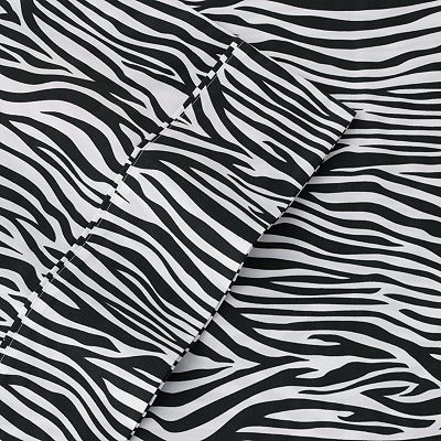 The Big One Zebra Percale Sheet Set - Queen