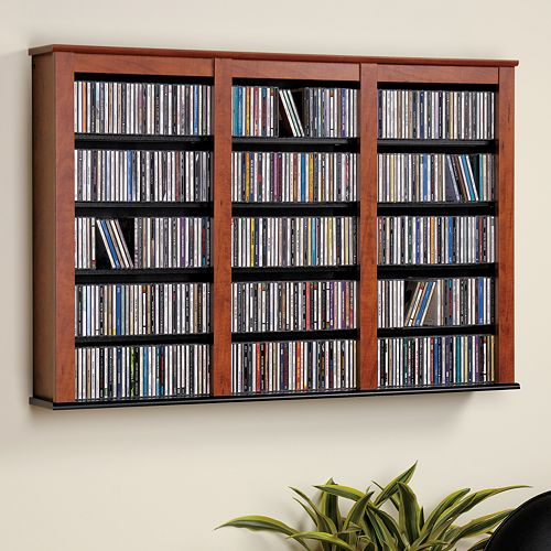 Prepac Large Wall-Mounted Media Shelf