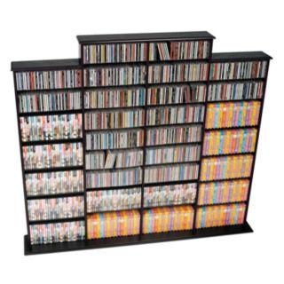 Prepac Quad Width Multimedia Wall Storage