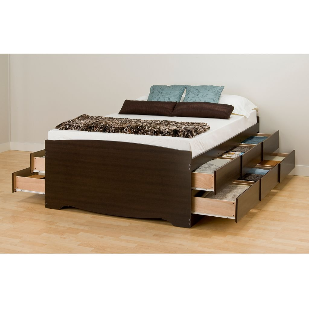 Prepac Full 12-Drawer Platform Storage Bed