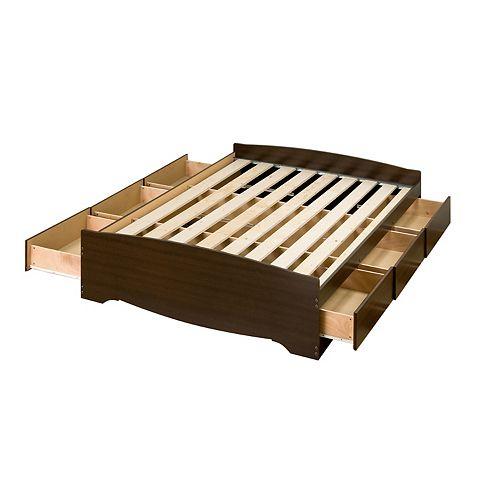 Prepac Queen 6 Drawer Platform Storage Bed
