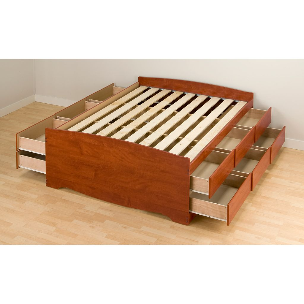 Prepac Queen 12-Drawer Platform Storage Bed