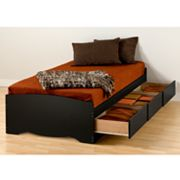 Prepac Extra-Long Twin Storage Bed