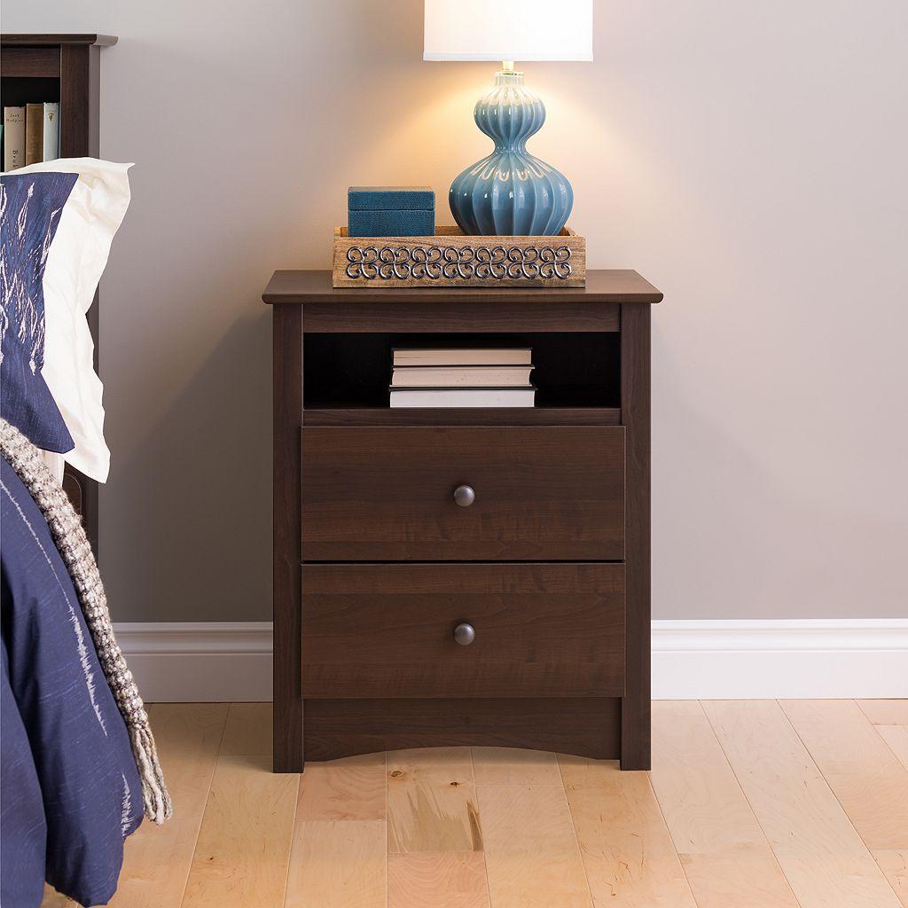 Prepac Tall 2-Drawer Nightstand