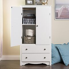 Prepac Monterey 2-Drawer Armoire
