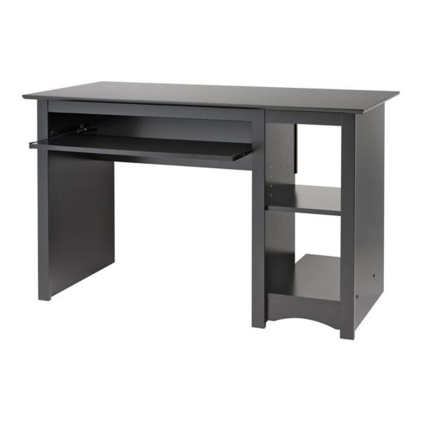 Prepac Sonoma Small Wood laminate puter Desk in Black