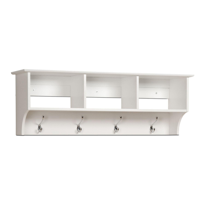 Prepac Entryway Cubbie Shelf. Black Espresso White