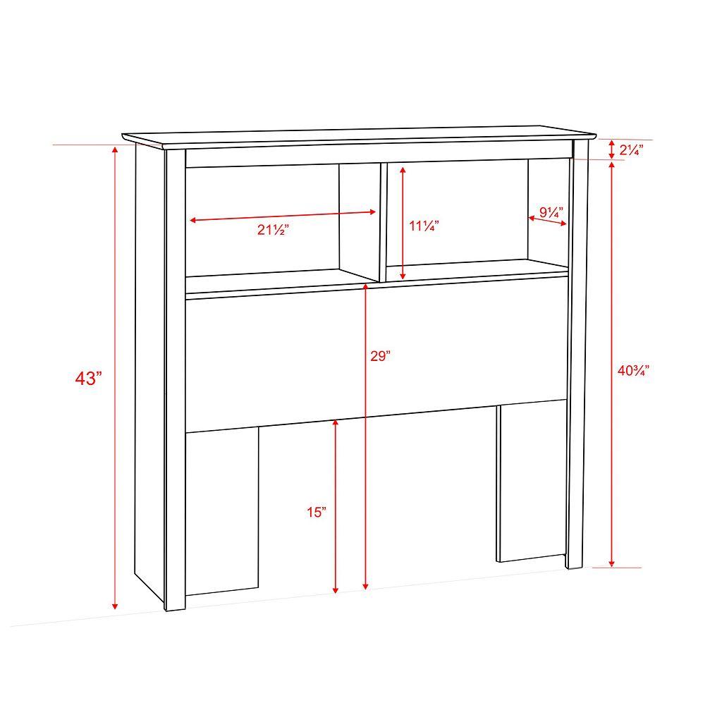 Prepac Twin Bookcase Headboard