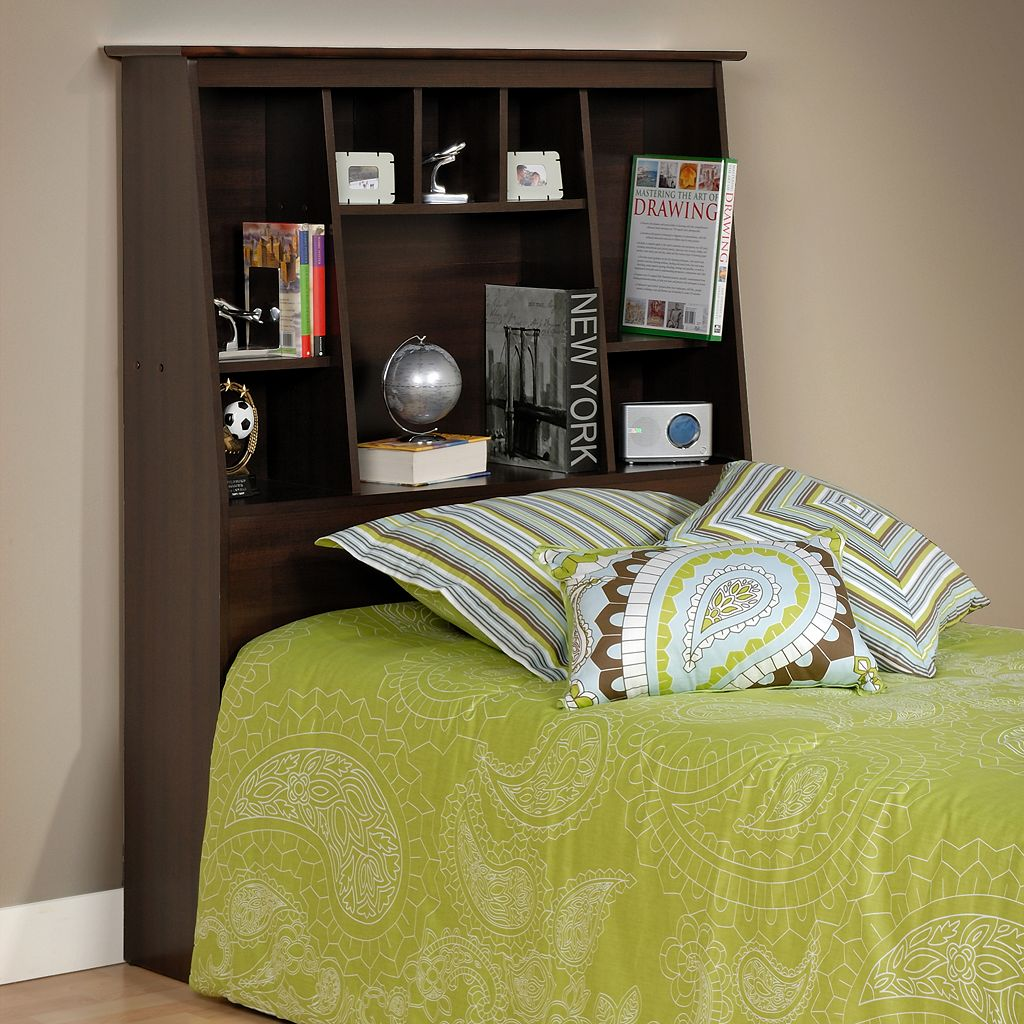 Prepac Twin Tall Bookcase Headboard