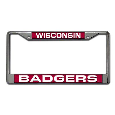 Wisconsin Badgers Metal License Plate Frame