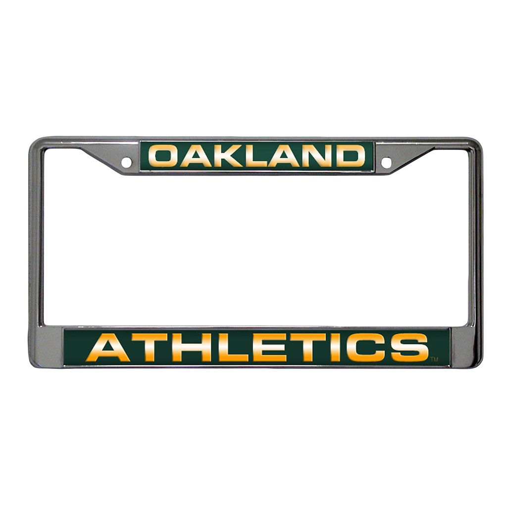 Oakland Athletics Metal License Plate Frame