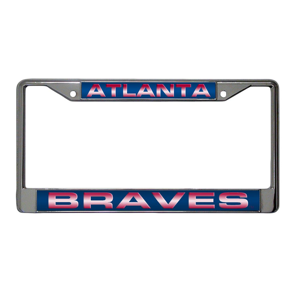 Atlanta Braves Metal License Plate Frame