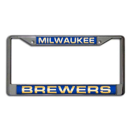 Milwaukee Brewers Metal License Plate Frame