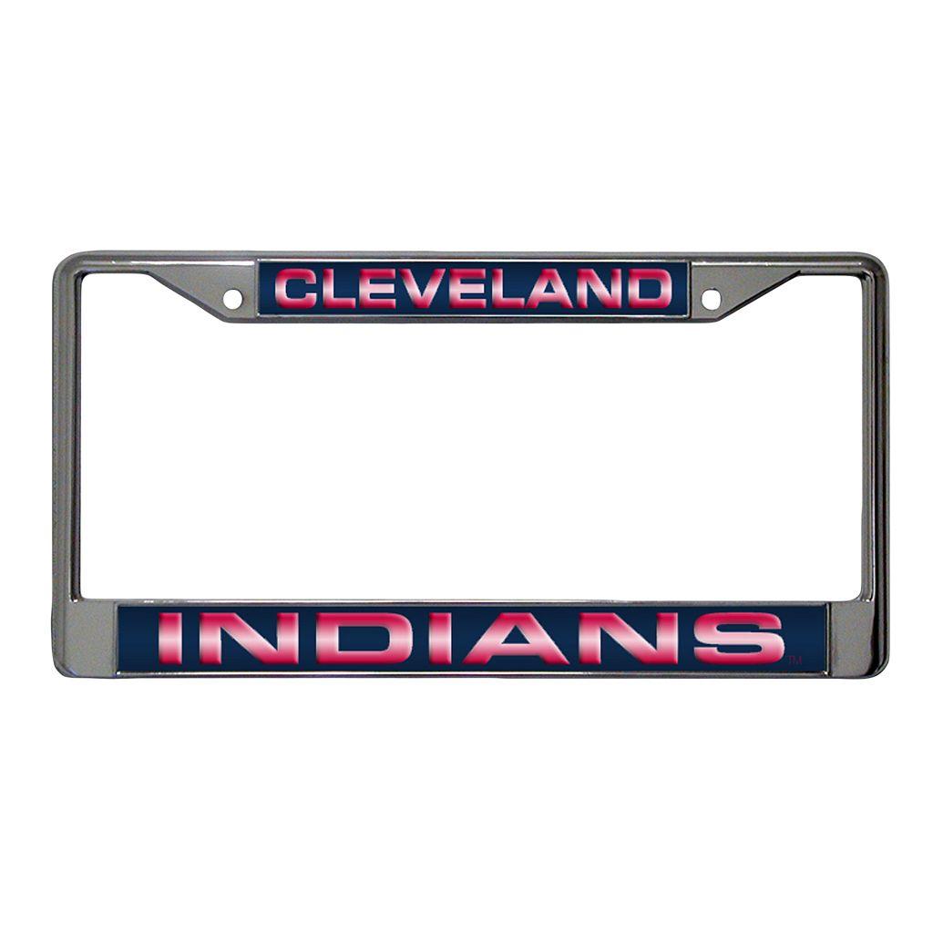 Cleveland Indians Metal License Plate Frame