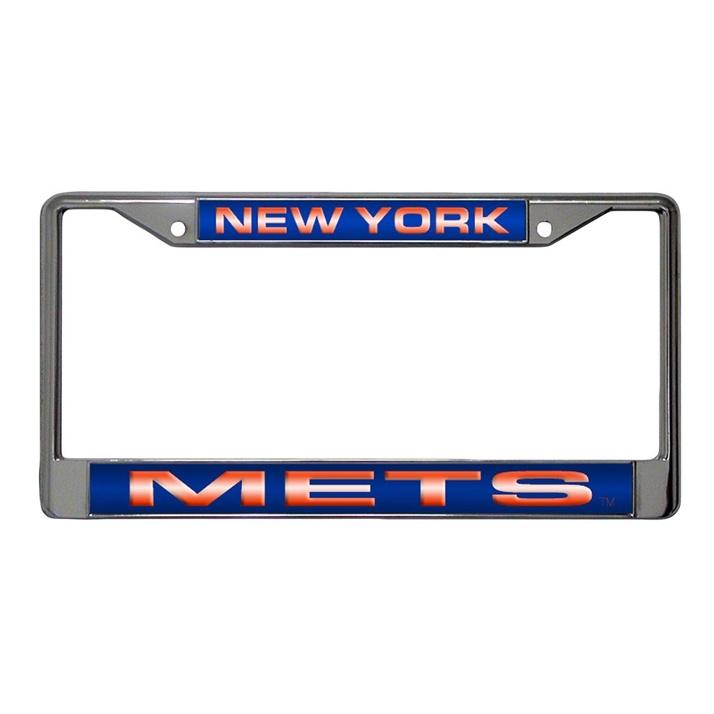 New York Mets Metal License Plate Frame