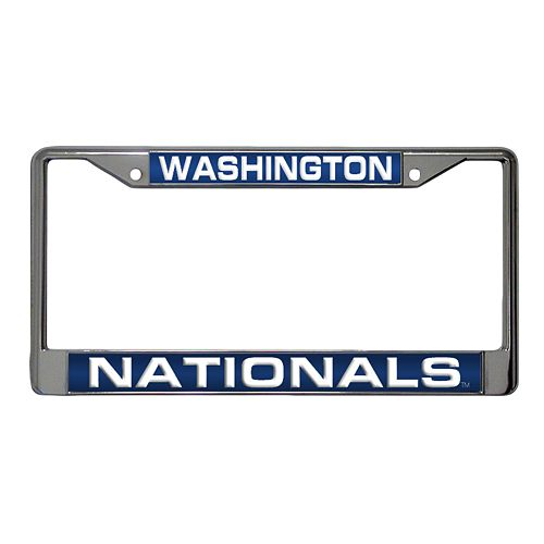 Washington Nationals Metal License Plate Frame