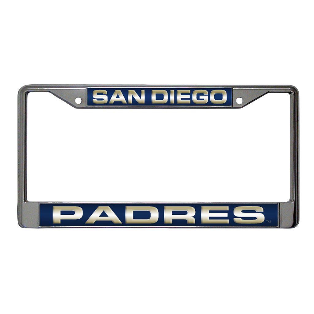 San Diego Padres Metal License Plate Frame