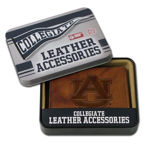 Auburn Tigers Embossed Leather Bifold Wallet