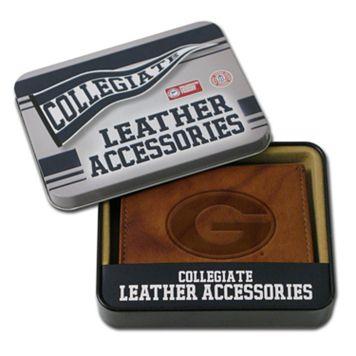 Georgia Bulldogs Embossed Leather Bifold Wallet