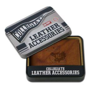 Kansas Jayhawks Embossed Leather Bifold Wallet