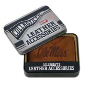 Ole Miss Rebels Embossed Leather Bifold Wallet