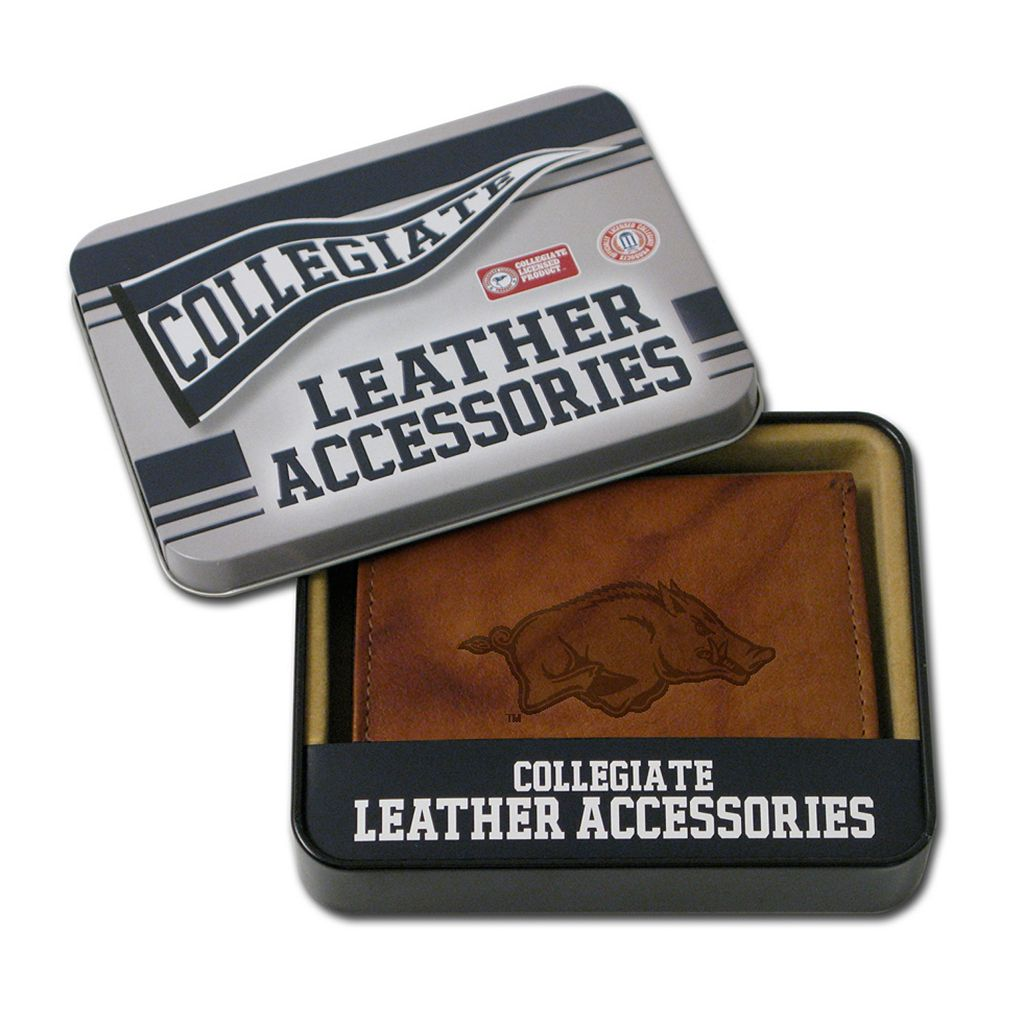 Arkansas Razorbacks Leather Bifold Wallet