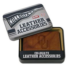 Oklahoma Sooners Embossed Leather Bifold Wallet