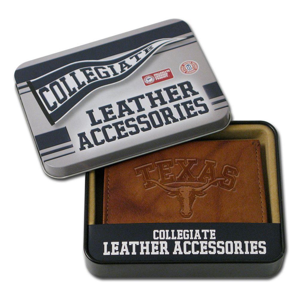 Texas Longhorns Embossed Leather Bifold Wallet