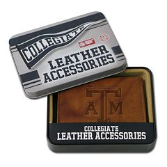 Texas A&M Aggies Embossed Leather Bifold Wallet