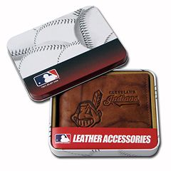 Cleveland Indians Leather Bifold Wallet