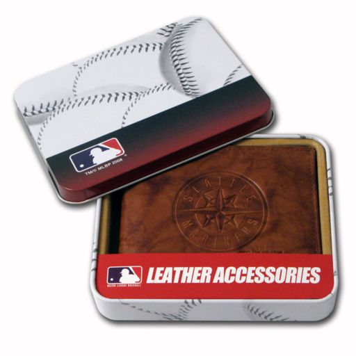 Seattle Mariners Leather Bifold Wallet