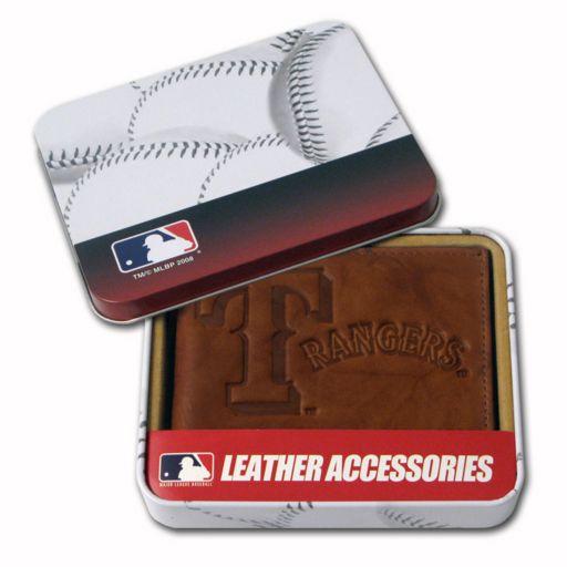 Texas Rangers Leather Bifold Wallet