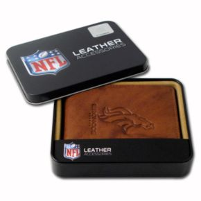 Denver Broncos Leather Bifold Wallet