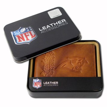 Carolina Panthers Leather Bifold Wallet