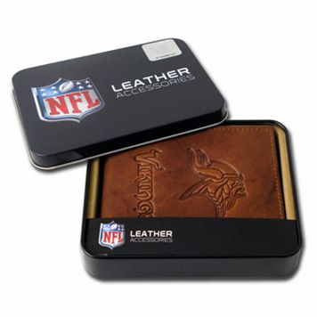 Minnesota Vikings Leather Bifold Wallet