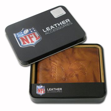 Detroit Lions Leather Bifold Wallet