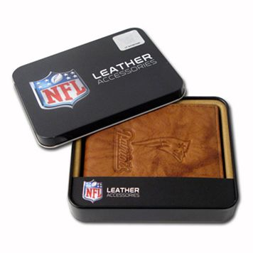 New England Patriots Leather Bifold Wallet