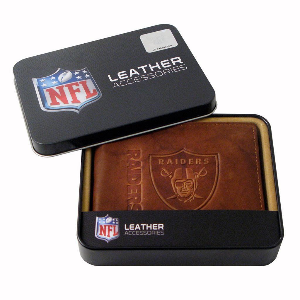 Oakland Raiders Leather Bifold Wallet