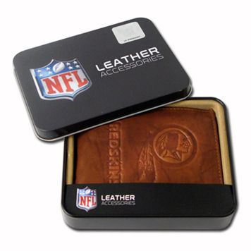 Washington Redskins Leather Bifold Wallet