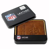 New Orleans Saints Leather Bifold Wallet