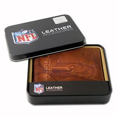 Seattle Seahawks Leather Bifold Wallet