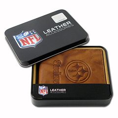 Pittsburgh Steelers Leather Bifold Wallet